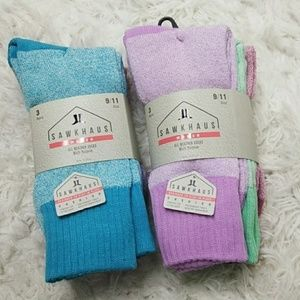 SIX Pair of Assorted Colors All Weather Socks